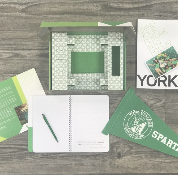 York College Personalized Direct Mail Campaign and Box Kit