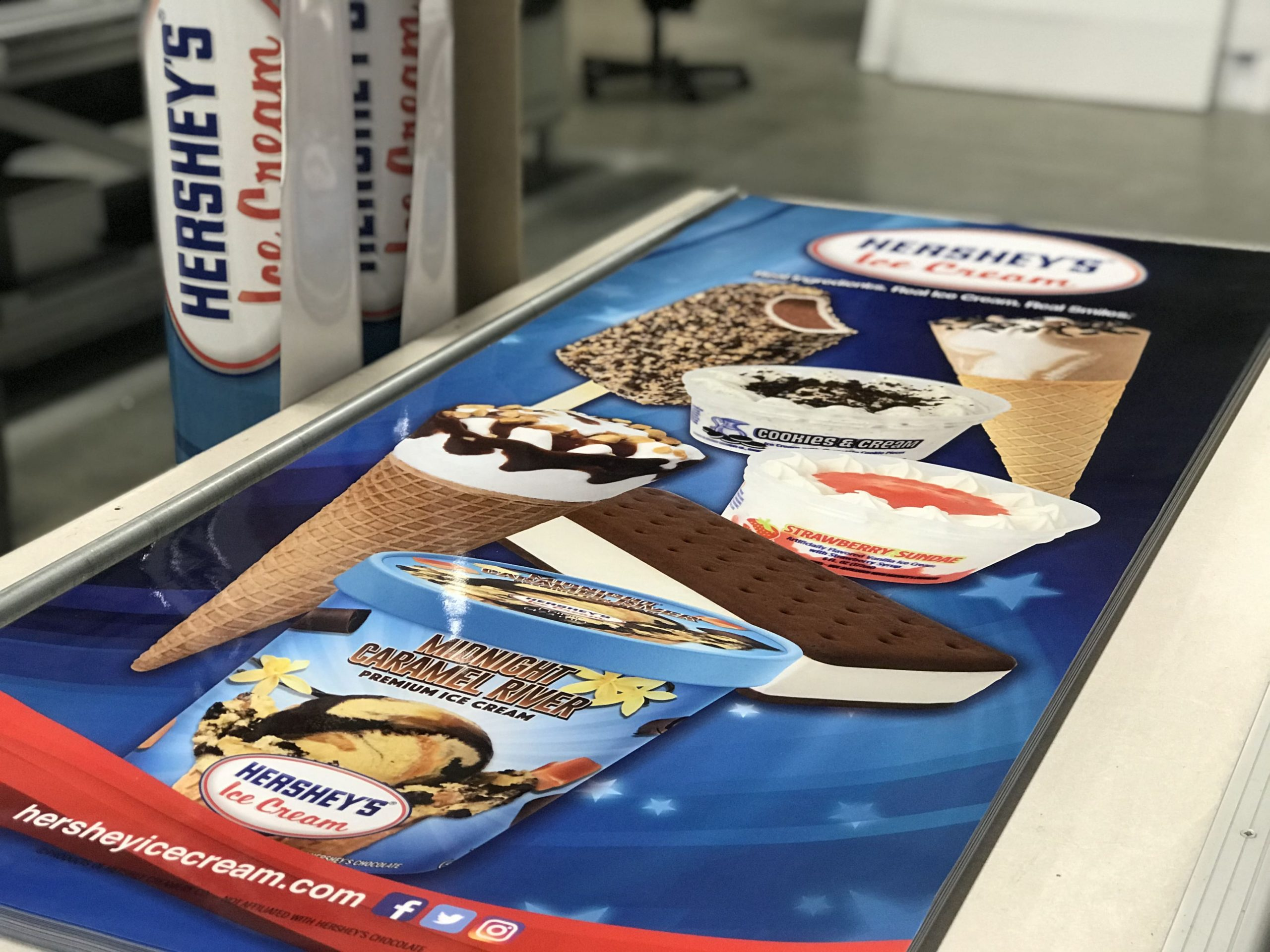 Hershey's Ice Cream custom store signage