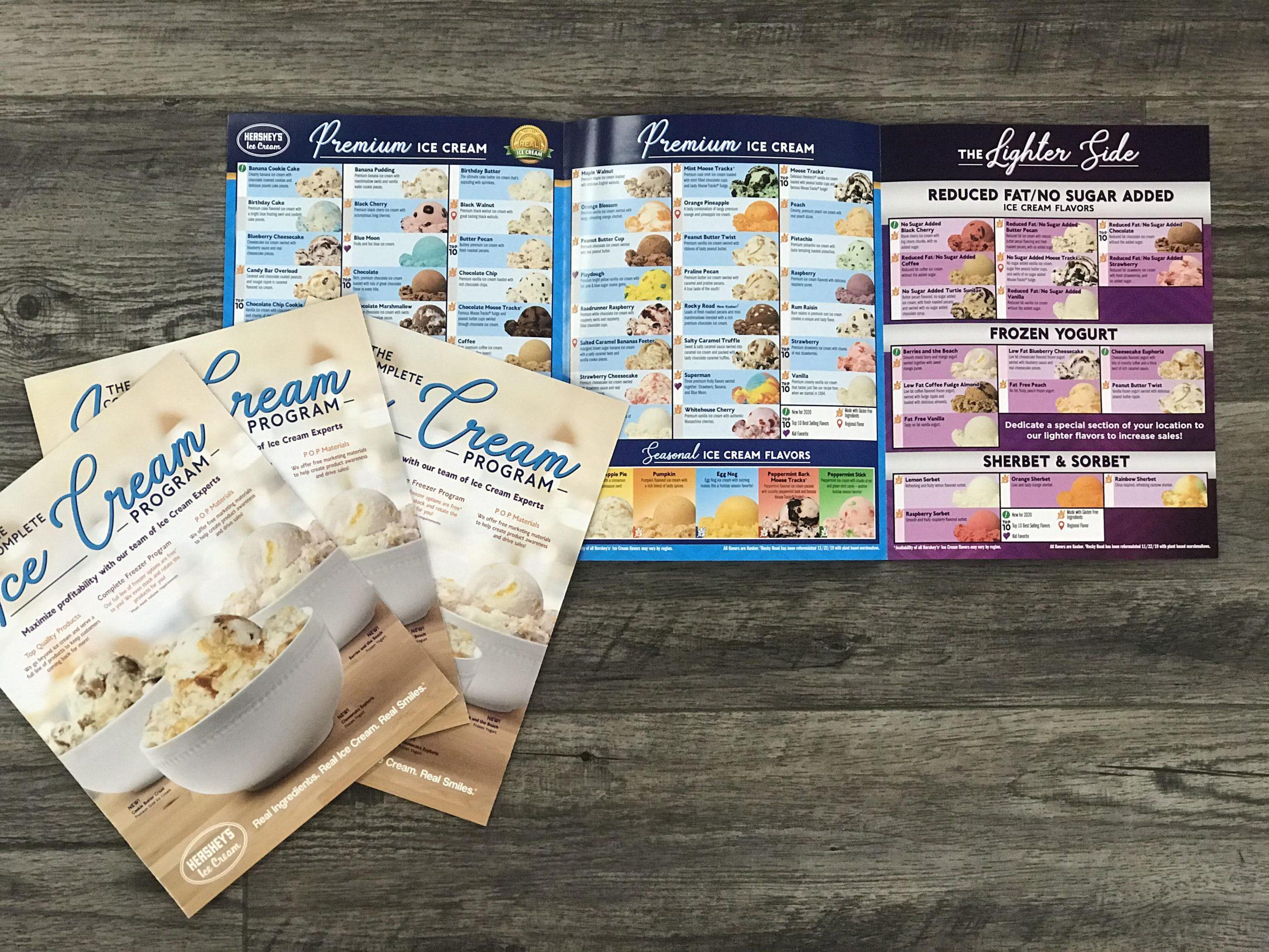 Hershey's Ice Cream custom printed flavor portfolio