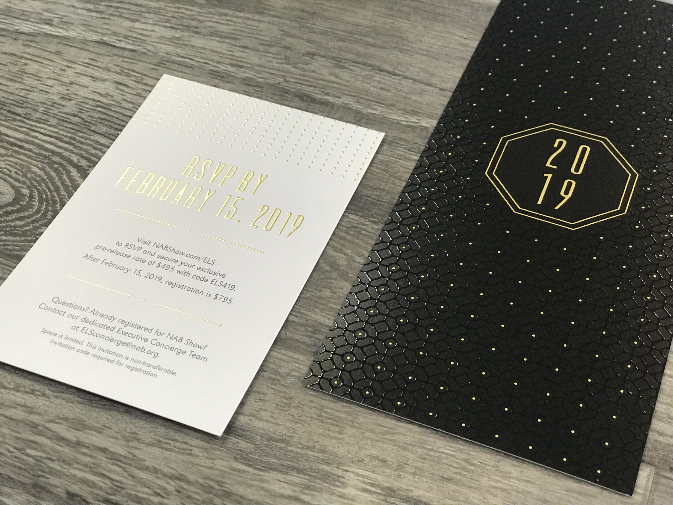 2019 event RSVP marketing collateral
