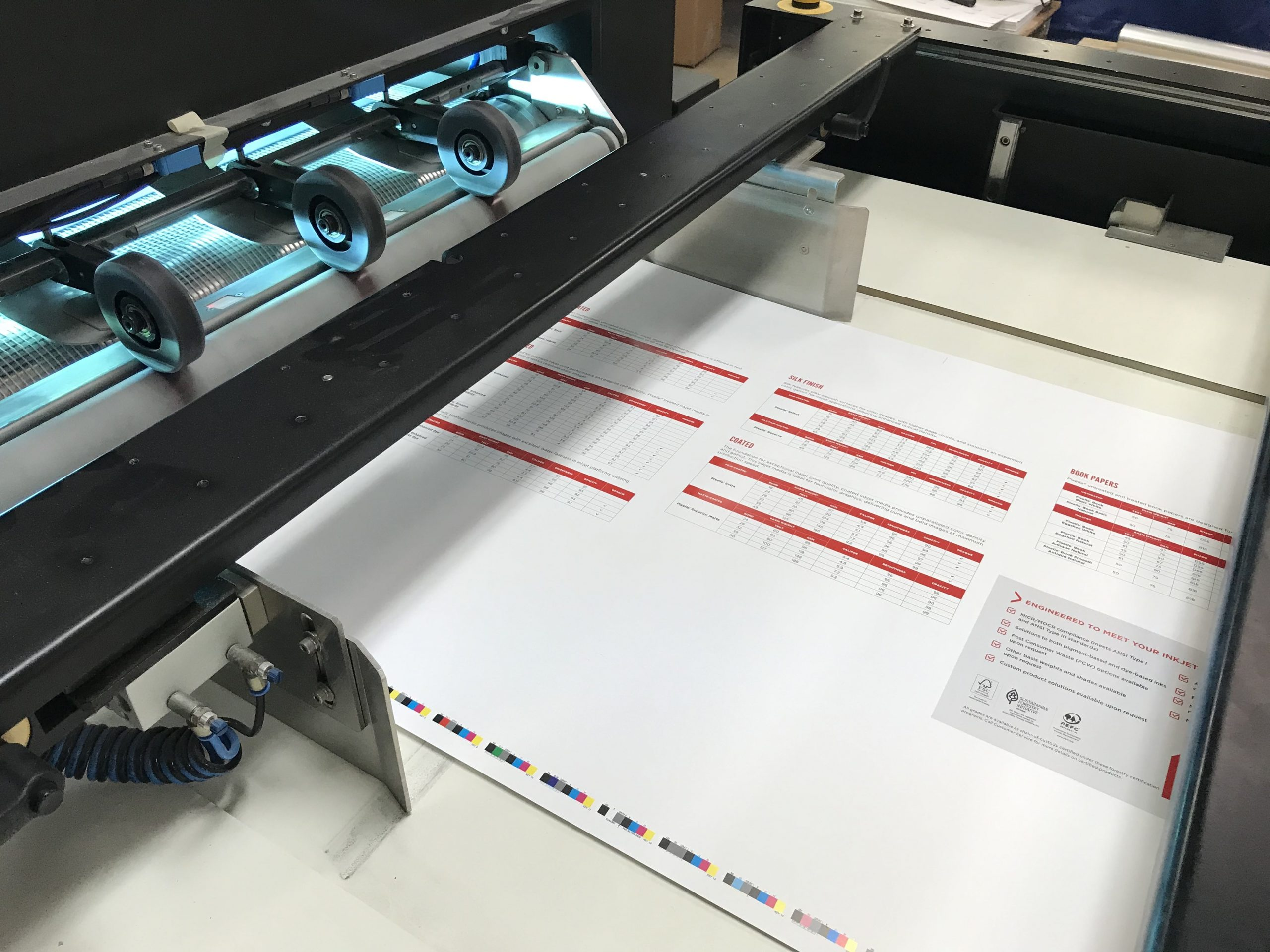 Custom marketing collateral being printed by The Anstadt Company