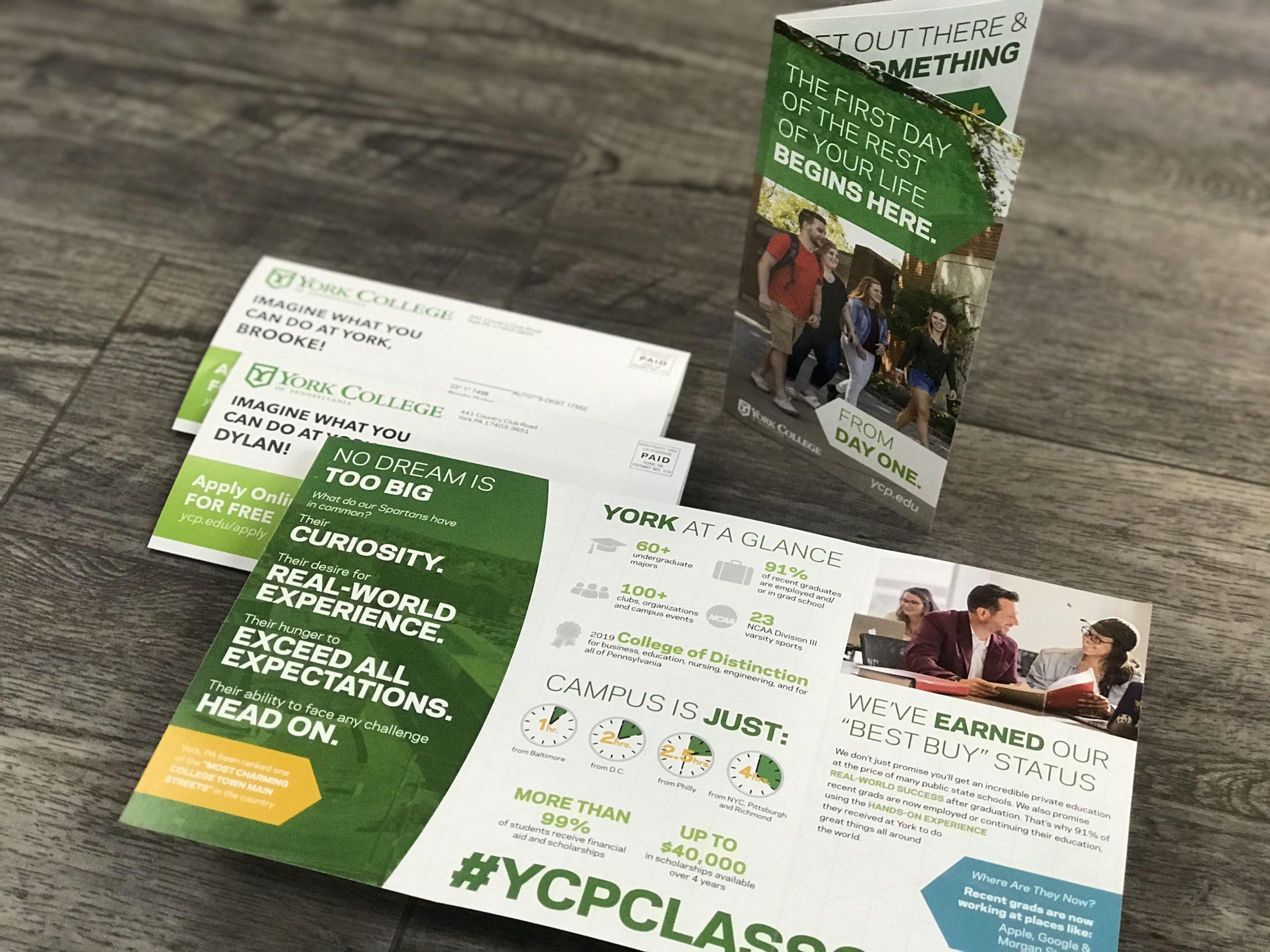 York College custom brochures