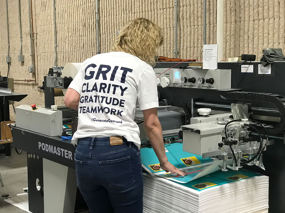 The Anstadt Company team member working on a new print